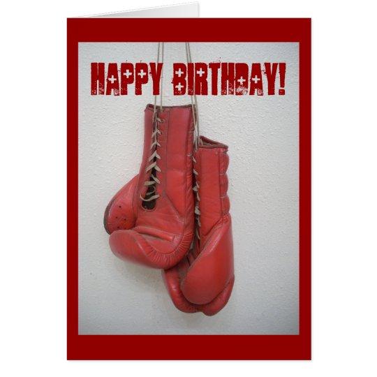 Boxing Gloves Birthday Card