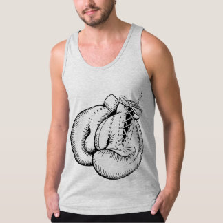 BOXING GLOVES (BLACK AND WHITE DESIGN) TANKTOP