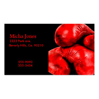 Boxing Gloves Boxer Grunge Style Pack Of Standard Business Cards