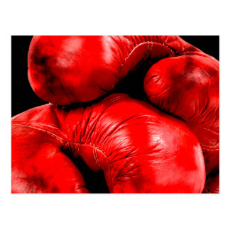 Boxing Gloves Boxer Grunge Style Postcards