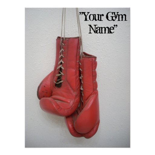 Boxing Gloves Canvas, Add your Gym name! Poster