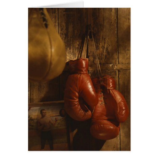 Boxing Gloves Greeting Card