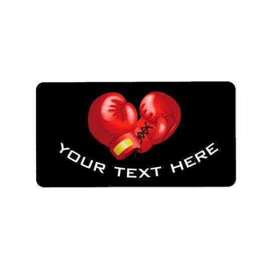 Boxing Gloves Design Labels