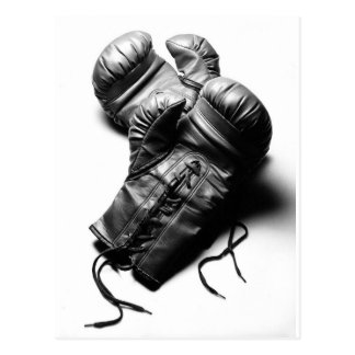 Boxing Gloves in Black and White Postcards