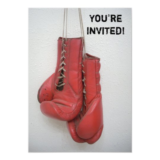 Boxing Gloves Invitations Birthday/Bachelor/Any
