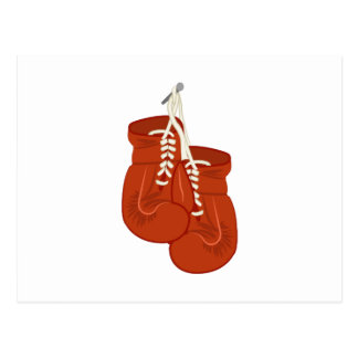 Boxing Gloves Post Card