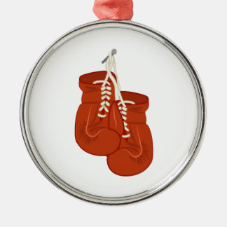 Boxing Gloves Silver-Colored Round Decoration