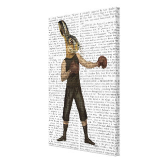 Boxing Hare Canvas Print