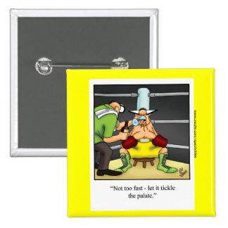 "Boxing Humor Square Button ""Spectickles"""