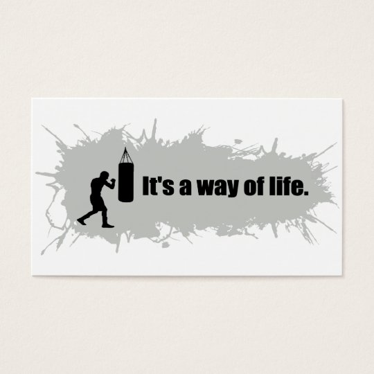 Boxing Is a Way of Life Business Card