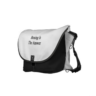 Boxing Is The Answer Messenger Bags
