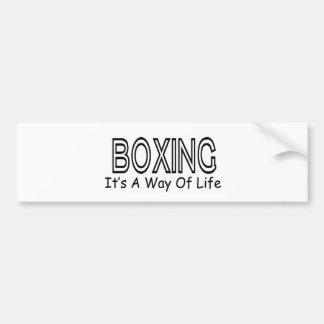 Boxing It s A Way Of Life Bumper Sticker
