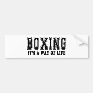 Boxing It's way of life Bumper Sticker
