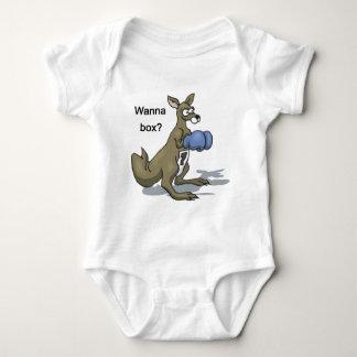 Boxing Kangaroo Baby Bodysuit