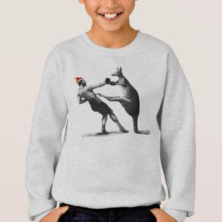 boxing kangaroo christmas sweatshirt