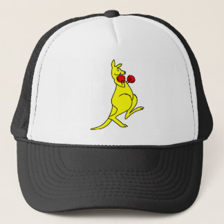 Boxing Kangaroo Trucker Hat