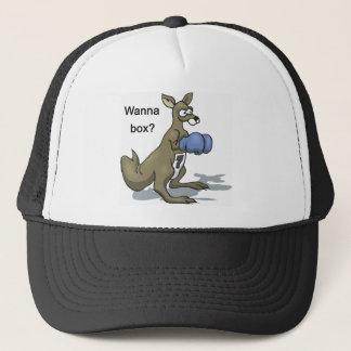 Boxing Kangaroo Trucker Hat