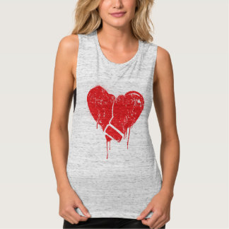 Boxing love gloves heart tank top