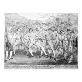 Boxing match between Thomas Futrell & John Postcard