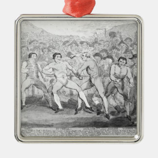 Boxing match between Thomas Futrell & John Silver-Colored Square Decoration
