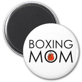 Boxing Mom Fridge Magnet