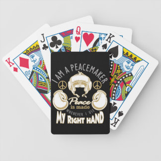 boxing peacemaker bicycle playing cards
