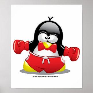 Boxing Penguin Poster