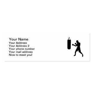Boxing punching bag pack of skinny business cards