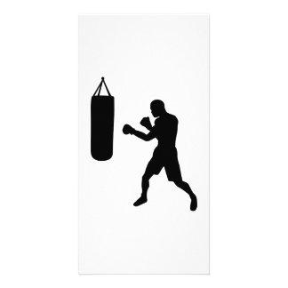Boxing punching bag customized photo card