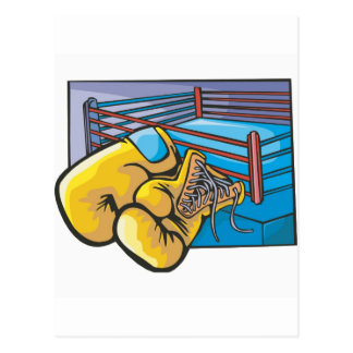 Boxing Ring and Gloves Postcards