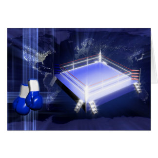 Boxing Ring Gloves Card
