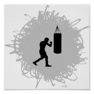 Boxing Scribble Style Posters
