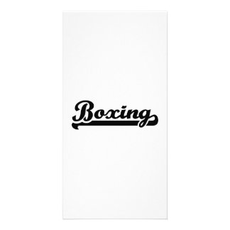 Boxing sports photo card