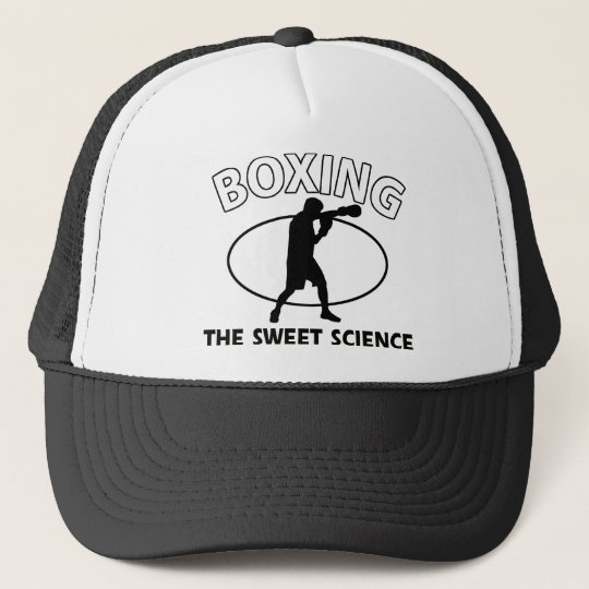 Boxing the sweet science trucker hat