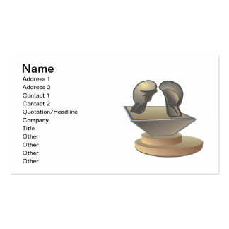 Boxing Trophy 2 Pack Of Standard Business Cards