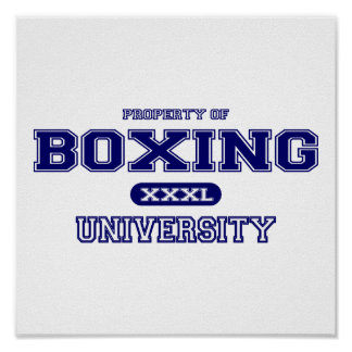Boxing University Posters