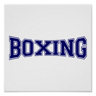 Boxing University Style Poster