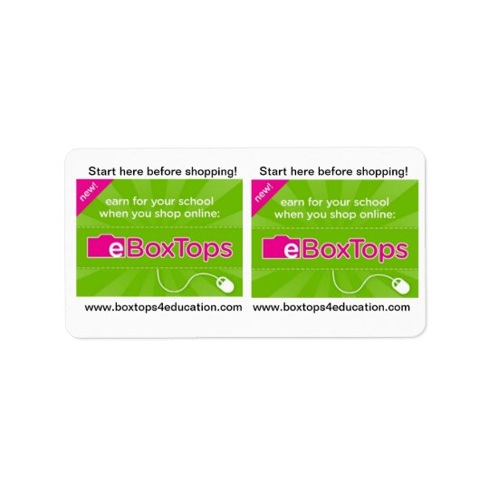 Boxtops for Education Stickers Address Label