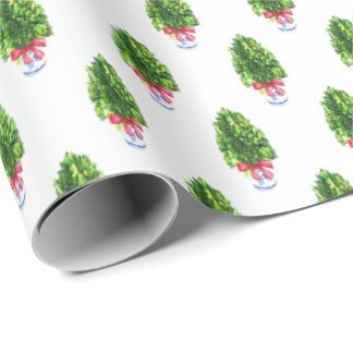 Boxwood Christmas Tree by Redux121DesignStudio Wrapping Paper