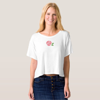 Boxy Crop Top with Rose