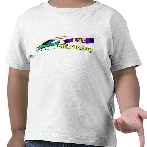 Boy 1st birthday aeroplane tshirt