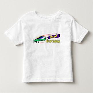 Boy 2nd birthday aeroplane toddler T-Shirt