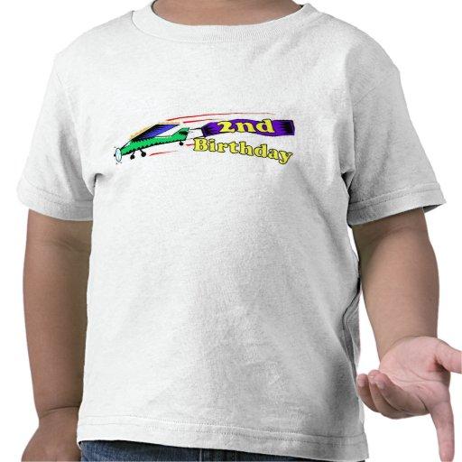 Boy 2nd birthday aeroplane t shirt