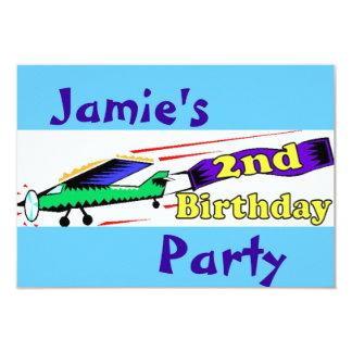 Boy 2nd birthday party card