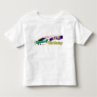 Boy 3rd birthday aeroplane toddler T-Shirt