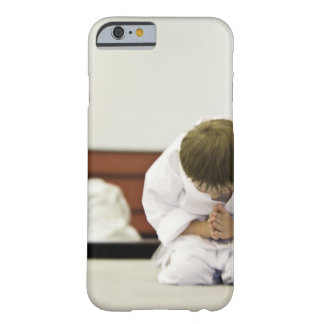 Boy (4-5 years) wearing karate outfit bowing, barely there iPhone 6 case