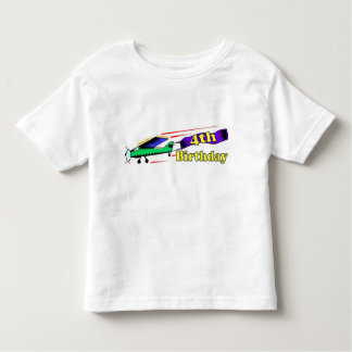 Boy 4th birthday aeroplane toddler T-Shirt