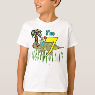 Boy 7th birthday dinosaur T-Shirt