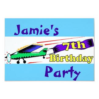 Boy 7th birthday party card