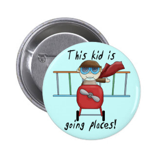 Boy Ace Pilot Tshirts and Gifts 6 Cm Round Badge